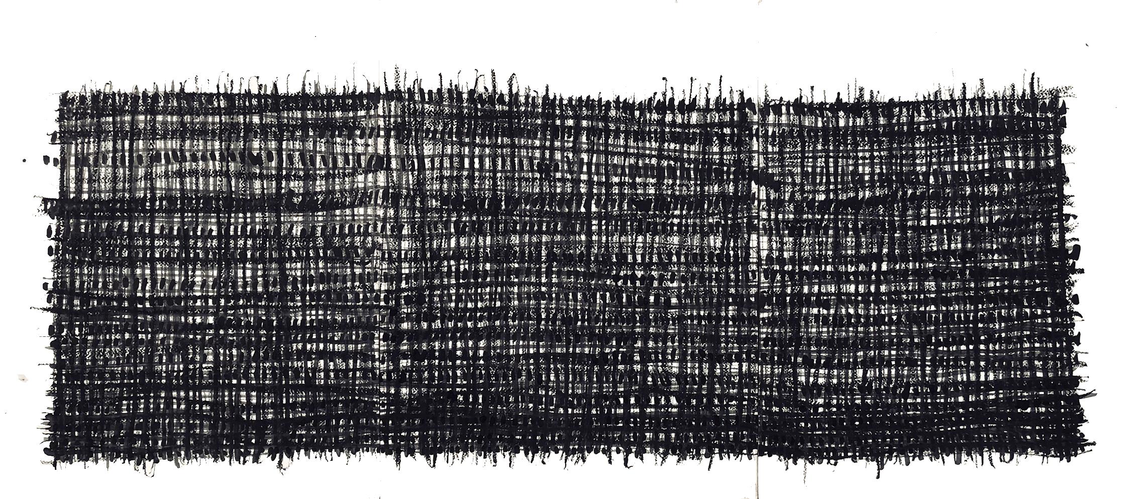Sans Titre-ST20-Pastel à l'huile sur papier -87 cm x 42 cm
